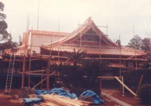 銅板の屋根(葺き替え後)