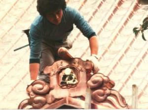 銅板製の鬼瓦