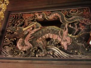 客殿欄間飾り「龍」