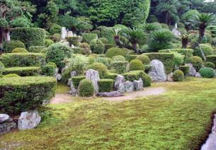 枯山水の庭園 客殿西側(5月下旬)
